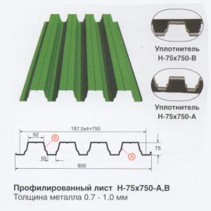 Профлист H-75x750-A,B