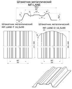 Евроштакетник  МП LANE